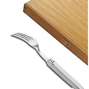 Set of 6 Prestige range Laguiole forks fully forged sandblasted finish Direct from France