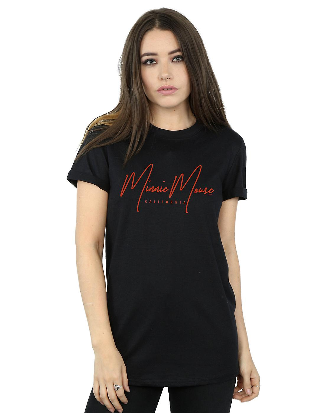 Disney Women's Mickey Mouse California Boyfriend Fit T-Shirt