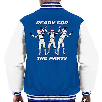 Original Stormtrooper Ready For The Party Christmas Men's Varsity Jacket