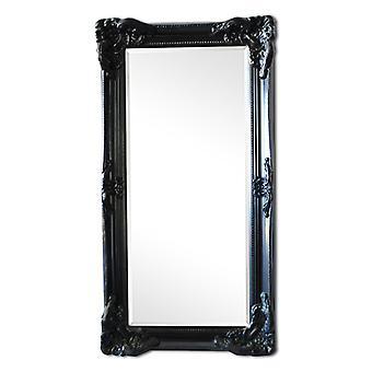 Spiegel in Schwarz in Italien Motiv, Außenmaße 108x58 cm