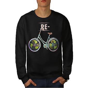 Reciclar BlackSweatshirt los hombres verdes globales | Wellcoda