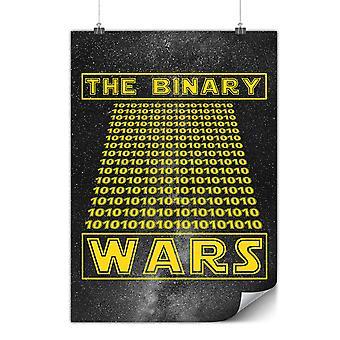 Matowy lub błyszczący plakat z binarnym Programmer | Wellcoda | * y3552