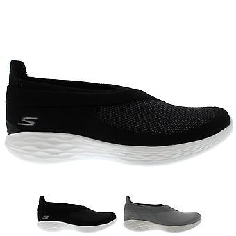 Womens Skechers du Luxe Memory Foam leichte Yoga Flexible Sneakers