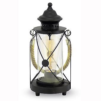 Eglo Bradford cuerda negro linterna estilo lámpara de mesa
