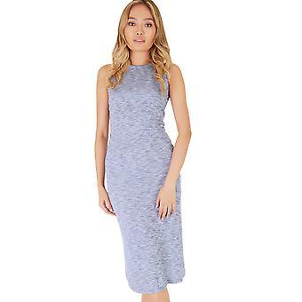 Double Agent Stretch Jersey Grey Marl Sleeveless Midi Dress