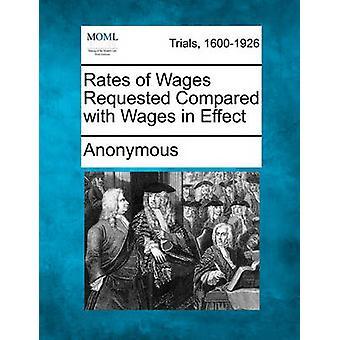 Preise der Löhne gefordert im Vergleich mit Löhnen in Kraft von anonym