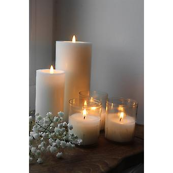 Majas Cottage tealight in plastic holder 4-pack