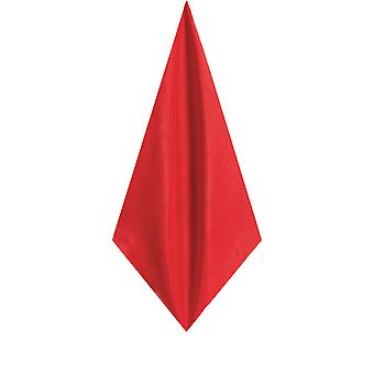 Dobell Mens Red Pocket Square Handkerchief Dupion Satin-Feel Fabric