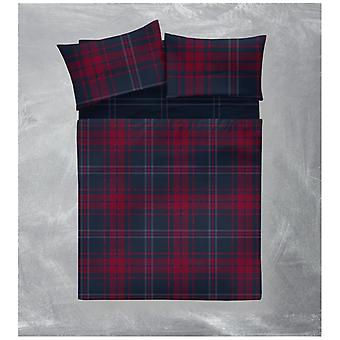 Arthur Check Flannelette Brushed Cotton Sheet Set Fitted Flat Sheet Pillow Case