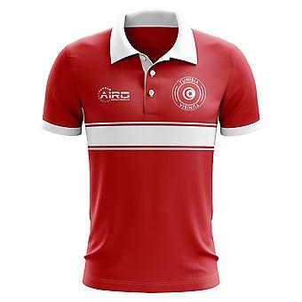 Tunesien-Konzept-Streifen-Polo-Shirt (rot)