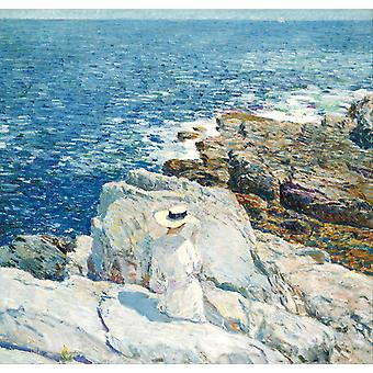 The South Ledges, Appledore, Childe Hassam, 50x48cm