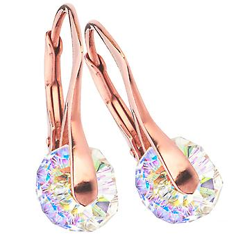 О, да! Ювелирные изделия круглые серьги с кристаллами Сваровски стерлингов серебро
