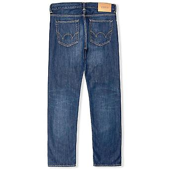 Edwin ED80 slanke Tapered Jeans Kingston blauw Denim medio kolen Wash