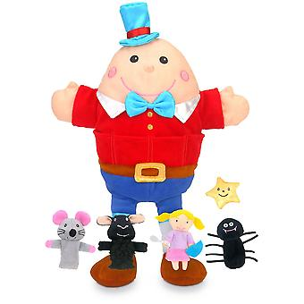 Fiesta Crafts Nursery Rhymes Hand & Finger Puppet Set