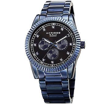 Akribos XXIV Männer Quartz Multifunktion Diamond Armband Watch AK958BU