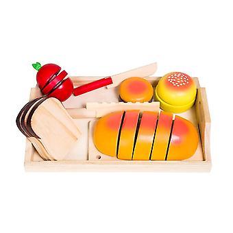 Glow2B Alemania U bandeja de pan de madera 19 piezas juguetes para niños