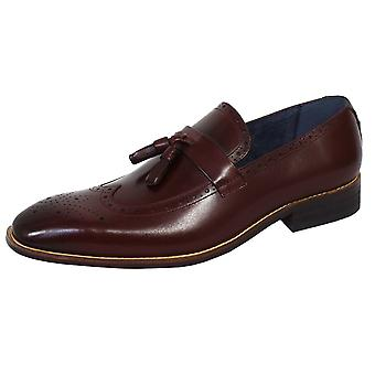 Azor tuscany men's burgundy laofer shoes