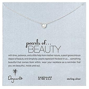Dogeared Pearls of Beauty White Pearl Sterling Silver Necklace - PS1008