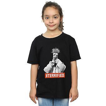 Disney Girls Muppets Beaker przerażony T-shirt