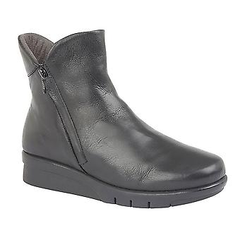 Cipriata Womens/Ladies Cara Softie Leather Twin Zip Ankle Boot