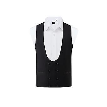Dobell Herre sort Tuxedo veste slim fit dobbelt breasted