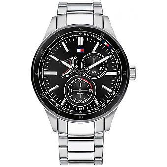 Tommy Hilfiger Hombres's Austin Pulsera de acero inoxidable ? Marcación Negra (Black Dial) 1791639 Reloj