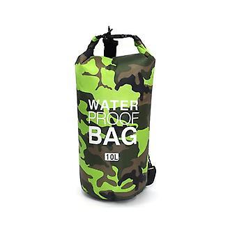 Waterdichte tas 10 L, camouflage-groen