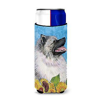 Keeshond no verão floresce os isoladores ultra da bebida para latas magros SS4122MUK