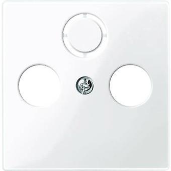 Merten Cover SAT socket, TV, Radio, SAT socket System M Polar white glossy 296719