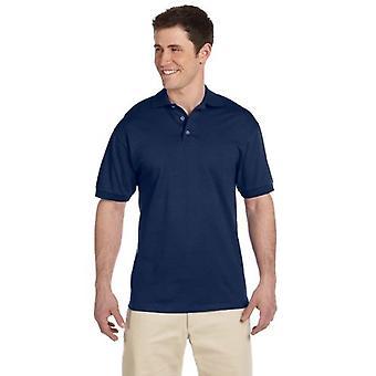 Jerzees mens 6.1 oz. Heavyweight Cotton Jersey Polo(J100)-J NAVY-L