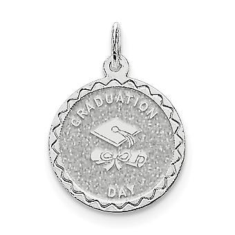 925 sterling sølv solid grave Bart graduering dag Disc Charm-1,4 gram