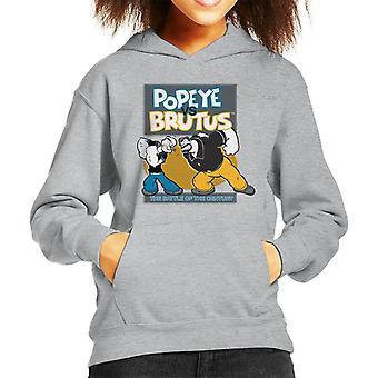 Popeye Vs Brutus Kid's Hooded Sweatshirt