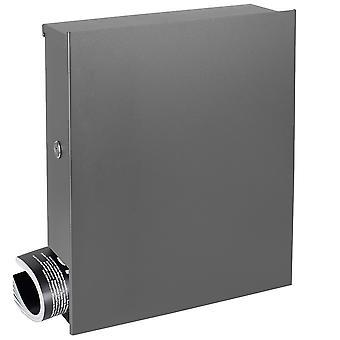 MOCAVI caixa 111R projeto de caixa de correio com alumínio de jornal caixa cinza (RAL 9007) parede de caixa de correio, links de castelo, grande, puro sem puxador
