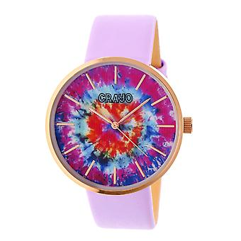 Crayo Swirl Unisex Watch-Rose Gold/lavendel