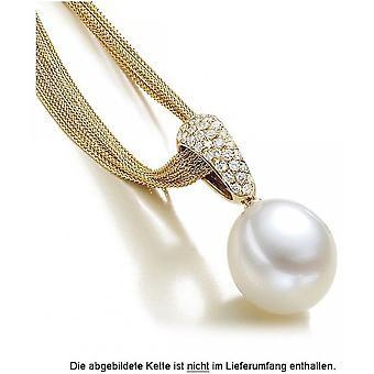 Luna-Pearls Pearl Pendant South Sea Pearl 750/-Yellow Gold 37 Brilliants 0.51ct. 1022325