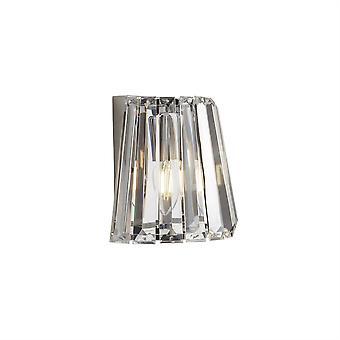 Søkelys Tiara 1 lys vegg lys krom med glass 2891-1CC