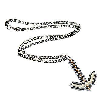 Minecraft Necklace-Pickaxe, 6 cm (grey)