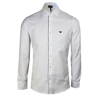 Emporio armani men's regular fit white shirt