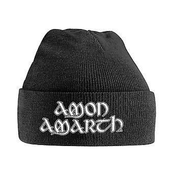 Amon Amarth Beanie Hat Band Logo new Official Black