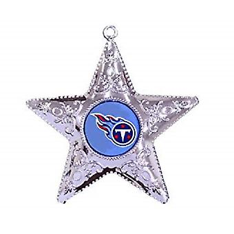 Tennessee Titans NFL Sports Collectors Series Silver Star Ornament