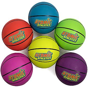 6 Regulation Size Neon Basketballs