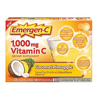 Emergen-c 1000 mg vitamin c, coconut pineapple, 30 ea