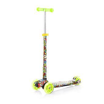 Chipolino Kinderroller Scooter Croxer Evo mit 3 Rädern Höhe einstellbar Lichter