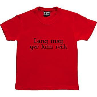 Lang May Yer Lum Reek Red Kids' T-Shirt