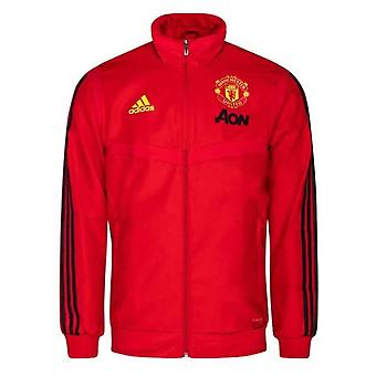 2019-2020 Man Utd Adidas Presentation Jacket (Red) - Kids