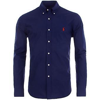 Ralph Lauren Polo shirt heren Navy Poplin performance slim fit