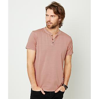 Joe Browns Mens Kortärmad Basic Henley Button Up T-shirt