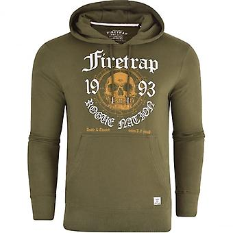 Firetrap oorspronkelijke Mens Designer Overhead Hoodie trui Hooded Sweatshirt Top
