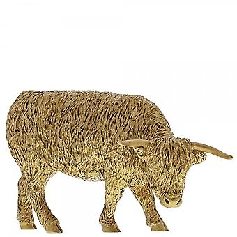 Border Fine Arts Highland Cow Gold Figurine