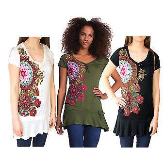 Desigual Women's Floral Jewelled Daniela T-Shirt